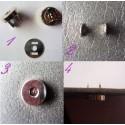 Pression aimantée fermeture magnétique 15 mm.