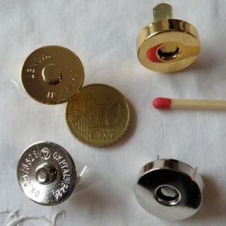 Pression aimantée fermeture magnétique 18 mm.