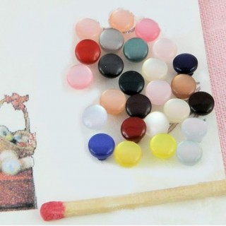 Shank pearly buttons, matt, brightly 4 mms