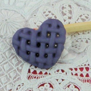 Bouton Coeur tressé bombé à pied 18 mm