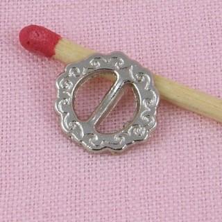 Boucle ceinture miniature poupée chaussures 12 mm.