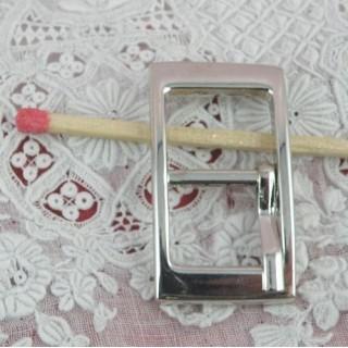 Boucle rectangle avec cran 3 cm