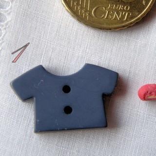 Bouton Bébé marinière, tshirt, 12 mm.