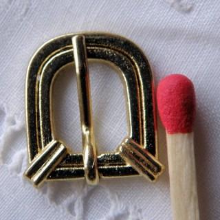 Boucle D miniature ceinture chaussures avec cran 1 cm.