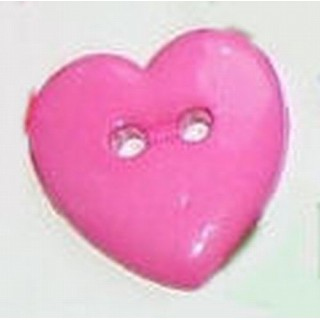 Boutons Coeur bombés 2 cm