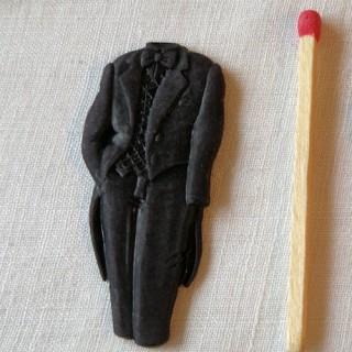 Boutons COUTURE:décoration smoking, habit soirée, 4,3cm.