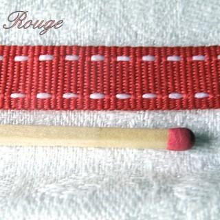 Ruban gros-grain surpiqué 12 mm.