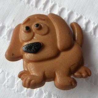 Bouton chien Basset, Teckel.