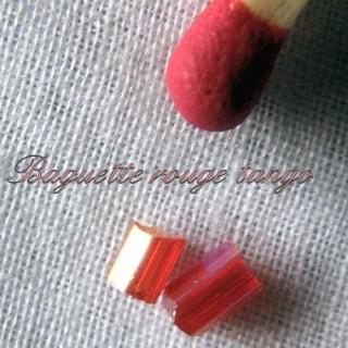Perles baguettes irisées minuscules 10g.