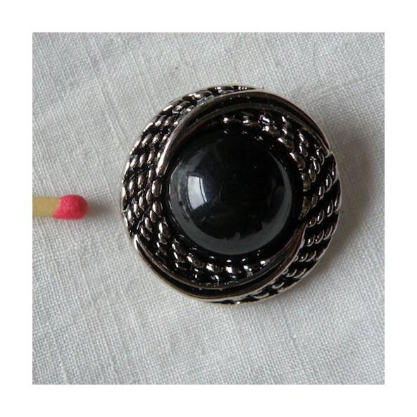 Gros bouton haute couture noir argent bouton style haute for Rangement boutons couture