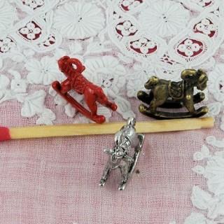 Breloque Cheval à bascule miniature