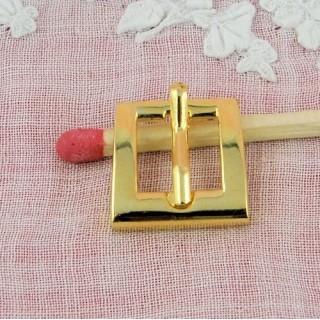 Boucle trapêze mini avec cran 13 mm.