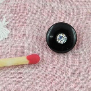 Bouton strass à pied 10 mm, 1 cm.