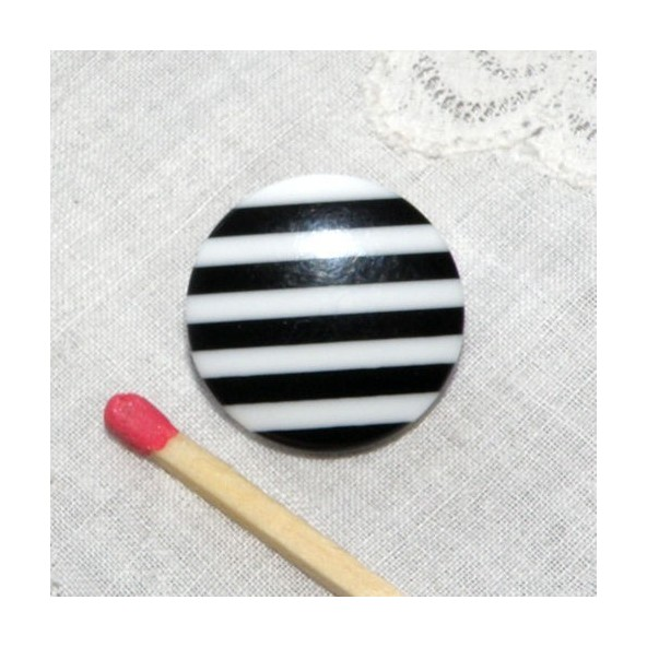 Bouton pied ray noir et blanc 2 cm bouton ray pied - Tapisserie rayee noir et blanc ...
