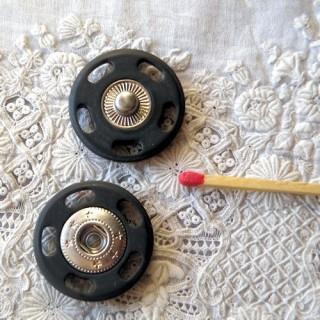 Bouton pression fantaisie géant à coudre,  25 mm, 2,5 cm.