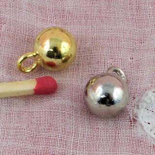 Bouton boule à pied métal 8 mm,