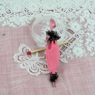 Ombrelle miniature décorative poupée 6,5cm