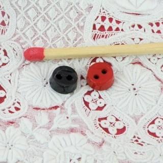 Bouton rond petit bouton habits poupée 6 mm.