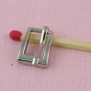 Boucle miniature ardillon métal avec cran
