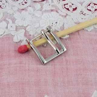 Boucle carrée petite ardillon ceinture poupée 13 mm.