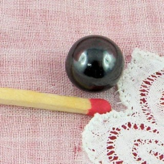 Bouton boule perle 1 cm.