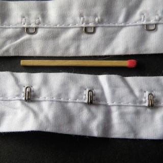 Bande agrafes à coudre, ruban fermeture bustier, corset.