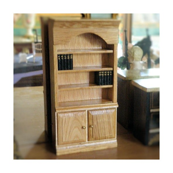 biblioth que vitrine bois meuble miniature maison poup e biblioth. Black Bedroom Furniture Sets. Home Design Ideas