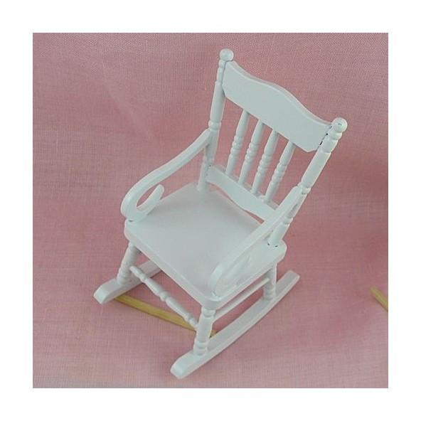fauteuil bascule miniature poup e 1 12. Black Bedroom Furniture Sets. Home Design Ideas