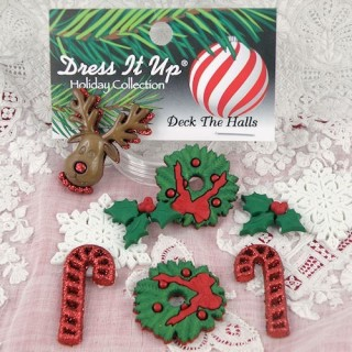 Boutons scintillants thème Noël Dress it up,