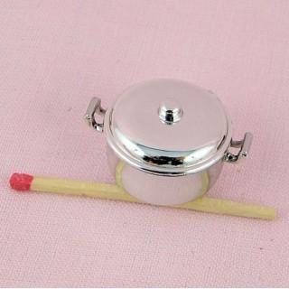 Marmite miniature poupée plastique,