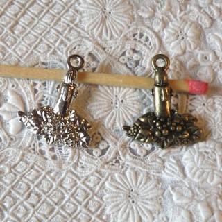 Bougeoir miniature Noël pendentif breloque