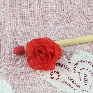 Rose en tulle organdi fleur à coudre 14 mm,
