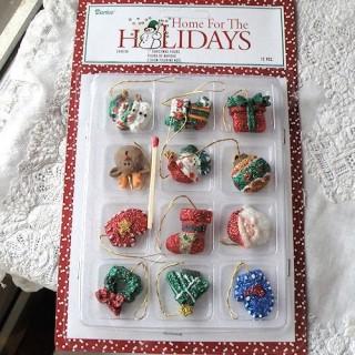 Sujets miniatures figurines décorations de Noel à suspendre