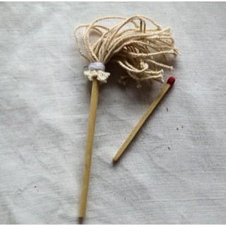 Petit balai laveur à mèches, rond accessoires miniatures maison poupée,10,5 cm.