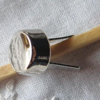 Pied de sac métal accessoire maroquinerie 9 mm diamètre