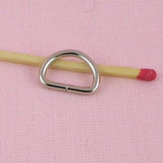 Demi anneau métal D 17 mm.