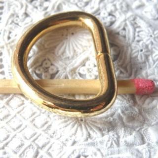 Demi anneau métal D