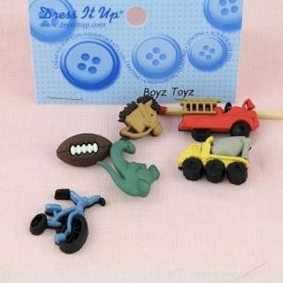 Bouton jouet locomotive train camion Dress it up,