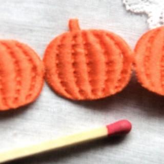 Ruban gaufré décoration Halloween citrouilles