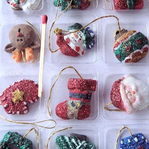 D coration no l maison poup e sapin miniature - Decoration de sapin de noel maison ...