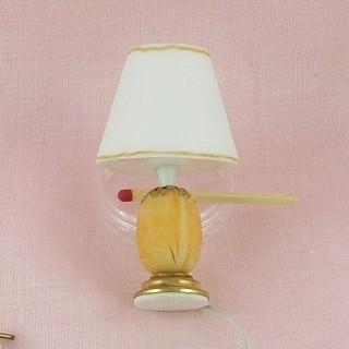 Lampe àpied électrifiée miniature maison de poupée..