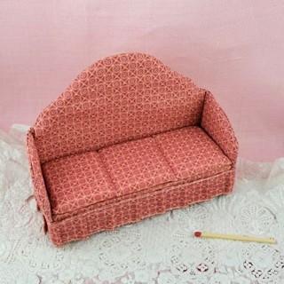 Canapé crapaud salon miniature maison poupée