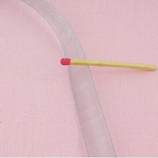 Ruban organdi au mètre 1 cm
