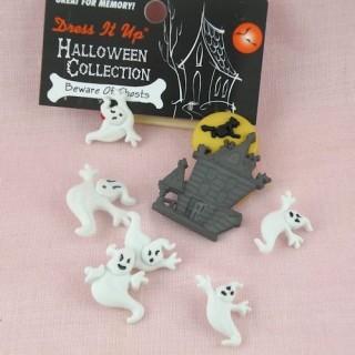 Bouton Halloween fantomes Dress it up,
