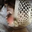 Rosette bonnet poupon en ruban, soie, satin organdi