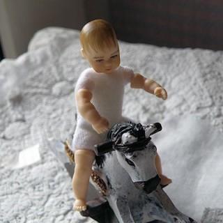 Poupée bébé miniature maison 1/12eme Heidi ott