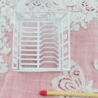 Egouttoir à vaisselle miniature maison poupée 4 cm