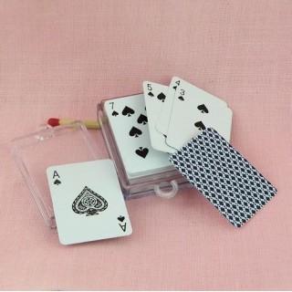 Jeu de carte miniature Porte-clef 4 cm