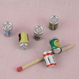 Canettes bière boisson miniatures poupée