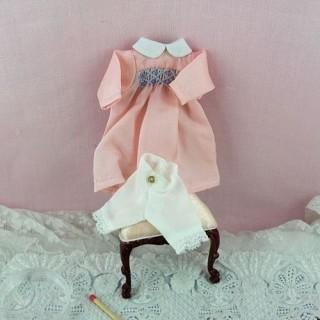 Robe smokes miniature maison poupée 1/12eme